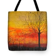 Orange Sky Tote Bag