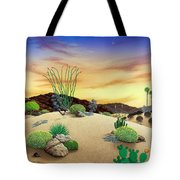 Orange Sky Sunset Tote Bag