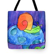 Orange Snail Tote Bag