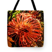 Orange Spice Floral  Tote Bag