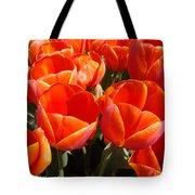 Orange Spring Tulip Flowers Art Prints Tote Bag