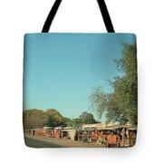 Orange Stalls Tote Bag