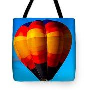 Orange Stipped Hot Air Balloon Tote Bag