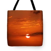 Orange Sun Tote Bag