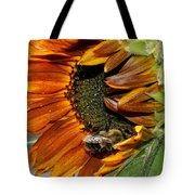 Orange Sunflower And Bee Tote Bag