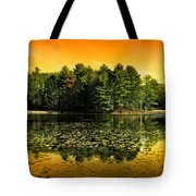 Orange Sunrise Reflection Landscape Tote Bag