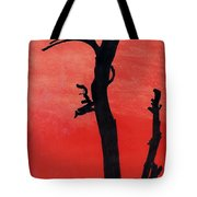 Orange Sunset Silhouette Tree Tote Bag