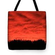 Orange Sunset Glow Tote Bag