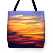 Orange Sunset Sky Tote Bag