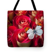 Orange Tip Butterfly Tote Bag