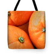 Orange Trio Tote Bag