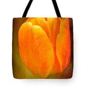 Orange Tulip Brown Texture Tote Bag