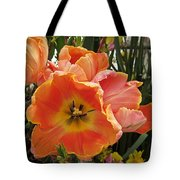 Orange Tulips Tote Bag
