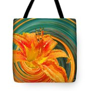 Orange Twist Daylily Photoart Tote Bag