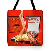 Orange Twist Girl Tote Bag