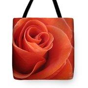 Orange Twist Rose 3 Tote Bag