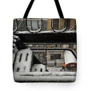 Orange Umbrella - Winter In New York Tote Bag