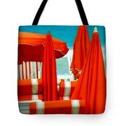 Orange Umbrellas Tote Bag