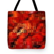 Orange Under Glass Abstract Tote Bag