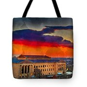 Orange Upon The Art Museum Tote Bag