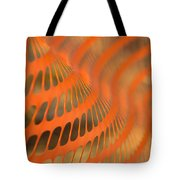 Orange Wave Tote Bag
