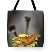 Orange Winged Butterfly Tote Bag