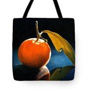Orange With Leaf Tote Bag