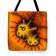 Orange Yellow And Black Abstract Fractal Art Tote Bag