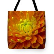Orange Yellow Mum Tote Bag