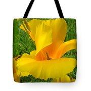 Orange Yellow Poppy Flower Art Print Tote Bag