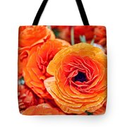 Orange You Happy Ranunculus Flowers By Diana Sainz Tote Bag