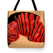 Orange Zebra Tote Bag