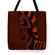 Orange Zebra Tote Bag