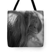 Orangutan Black And White Tote Bag