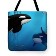 Orca Killer Whales Tote Bag