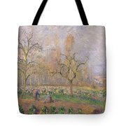 Orchard At Pontoise Tote Bag by Camille Pissarro