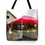 Orchard Fruit Stand Tote Bag