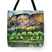 Orchard In The Valley Tote Bag
