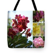 Orchid Collage Tote Bag