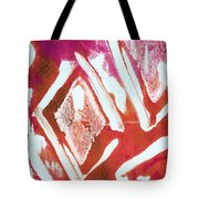 Orchid Diamonds- Abstract Painting Tote Bag by Linda Woods