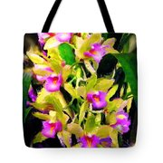 Orchid Flower Bunch Tote Bag