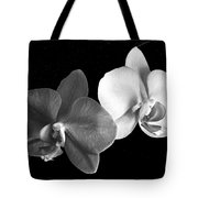 Orchid In Black And White Tote Bag