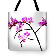 Orchid In White  Tote Bag