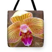 Orchid On Marble Tote Bag