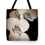 Orchid Trio Sepia Tote Bag