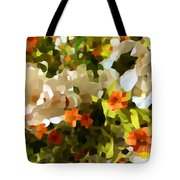 Orchids And Hydrangea Tote Bag