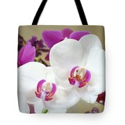 Orchids Floral Art Prints White Pink Orchid Flowers Tote Bag