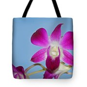 Orchids With Blue Sky Tote Bag