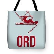 Ord Chicago Airport Poster 3 Tote Bag