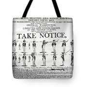 Order Of Battle - Take Notice Brave Men Tote Bag